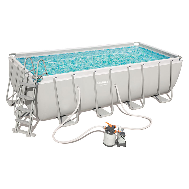 Piscine Bestway Rectangulaire Power Steel 488 x 244 x 122 cm avec filtre à sable
