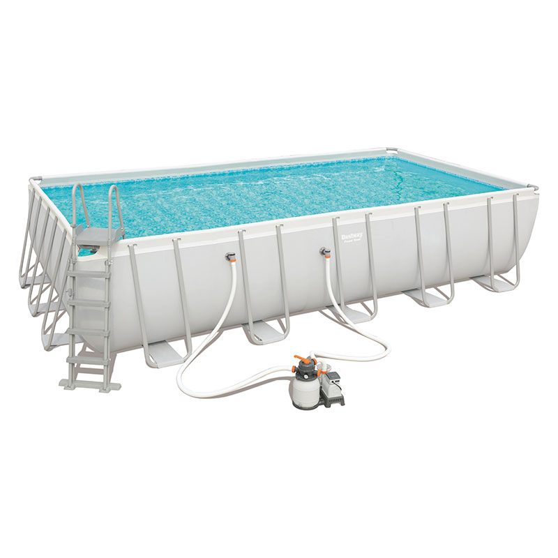 Piscine Bestway Rectangulaire Power Steel 671 x 366 x 132 cm avec filtre à sable