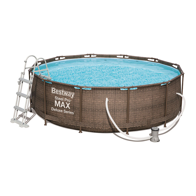 Piscine Bestway Ronde Power Steel Deluxe Rotin 366 x 100 cm