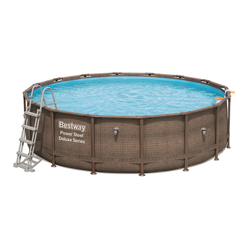 Piscine Bestway Ronde Power Steel Deluxe Rotin 488 x 122 cm