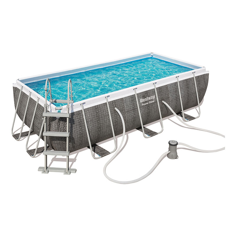 Piscine Bestway Rectangulaire Power Steel Rotin 404 x 201 x 100 cm