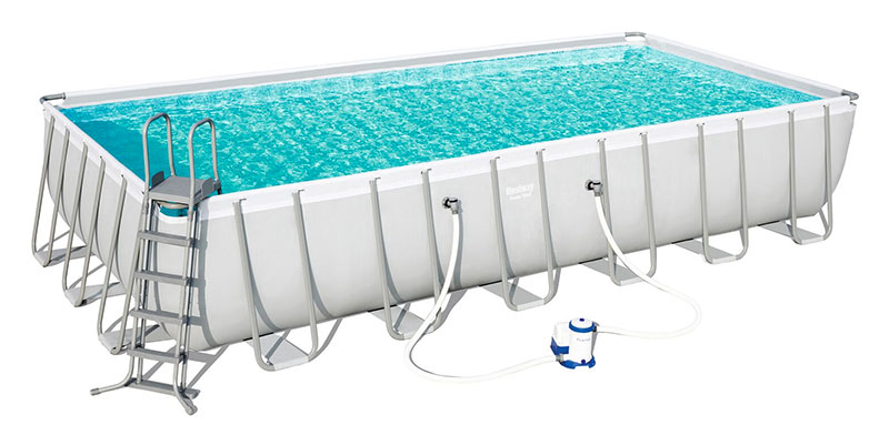 Piscine Bestway Rectangulaire Power Steel Frame 732 x 366 x 132