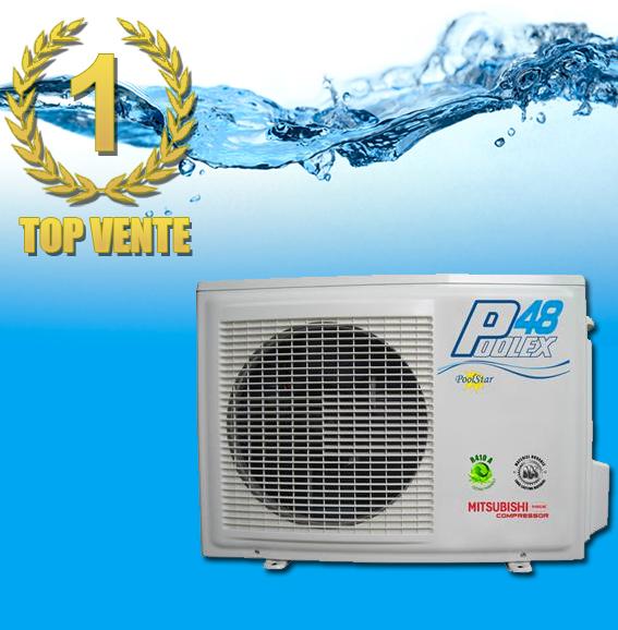 Poolex 4 8kw pour 30m3 pompe a chaleur piscine - Pompe a chaleur pour piscine 30m3 ...