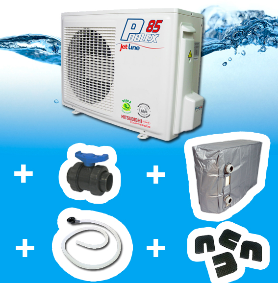 Jetline85 65m3max pompe a chaleur piscine for Consommation pompe a chaleur piscine