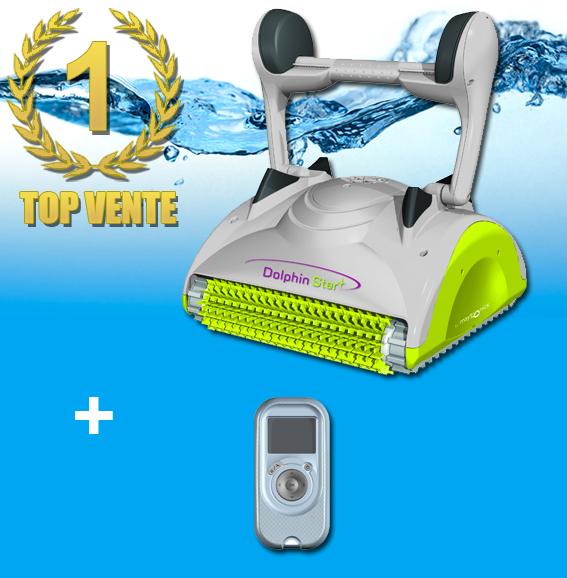 robot piscine jaune