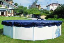 Couverture de protection pour piscine hors sol ronde 6 40 m for Bache piscine elastique