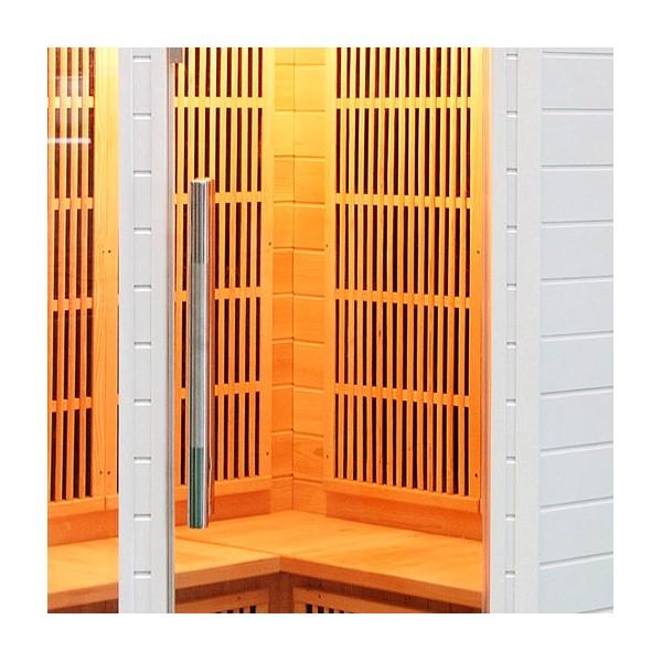 Cabine sauna soleil blanc 2 3 places - Sauna infrarouge utilisation ...