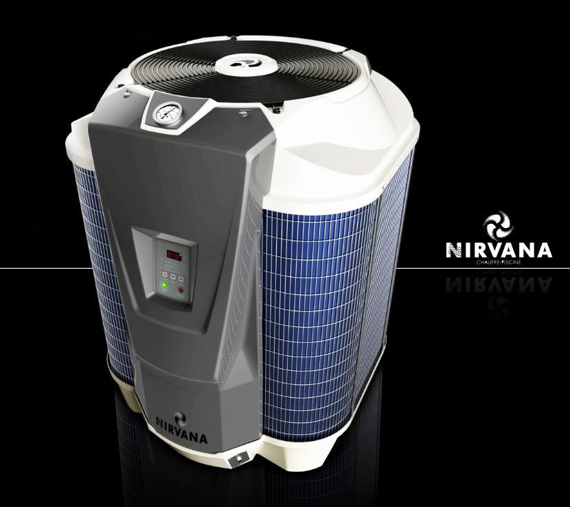 Nirvana 16 kw s60 jusqu a 100 m3 pompe chaleur piscine for Chauffe piscine nirvana