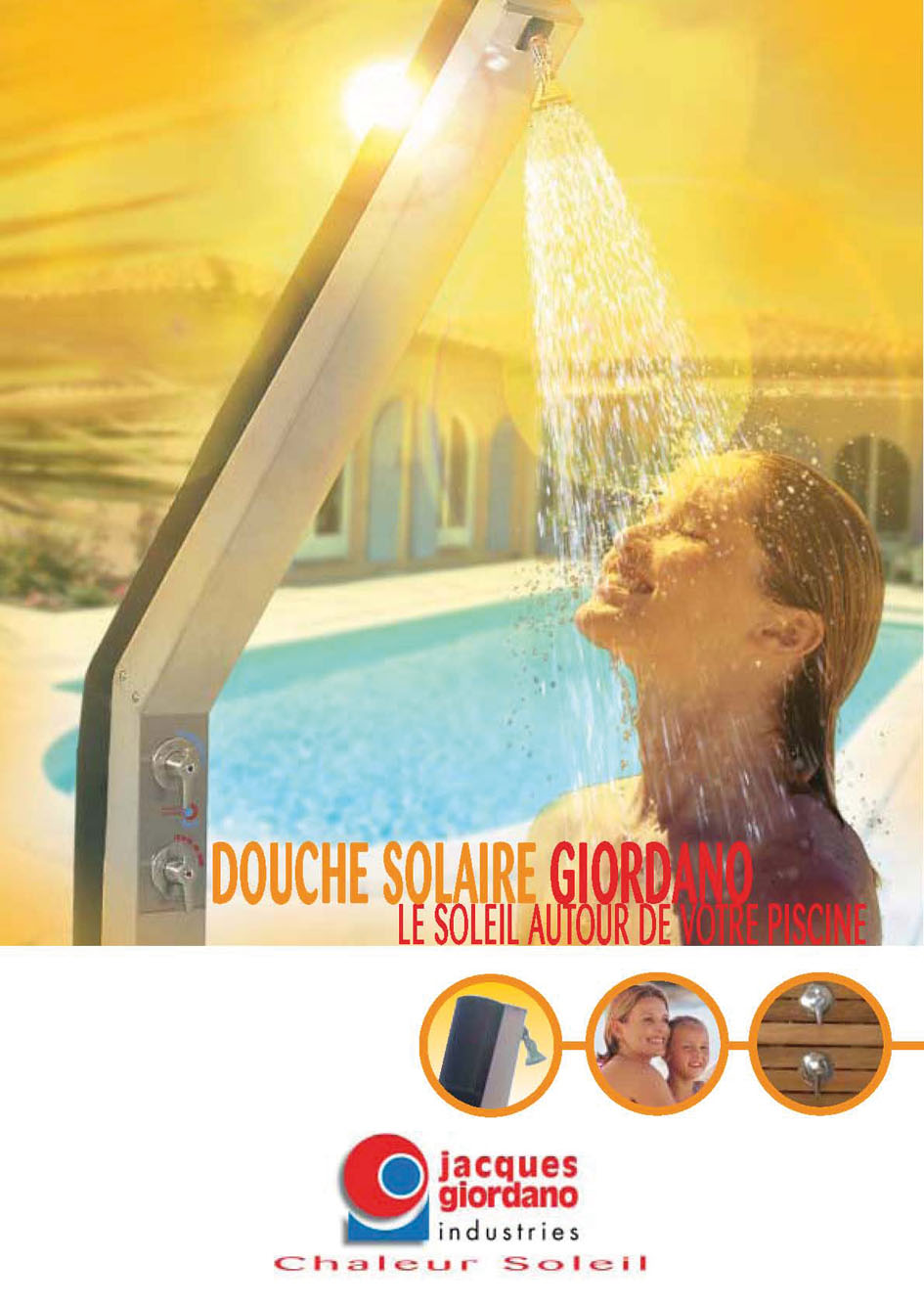 Douche piscine giordano courb e for Boutique de la piscine