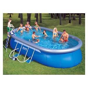 Bestway c piscine hors sol 610 x 366 x 122 cat gorie for Piscine ovale intex 6 10 x 3 66 x1 22m