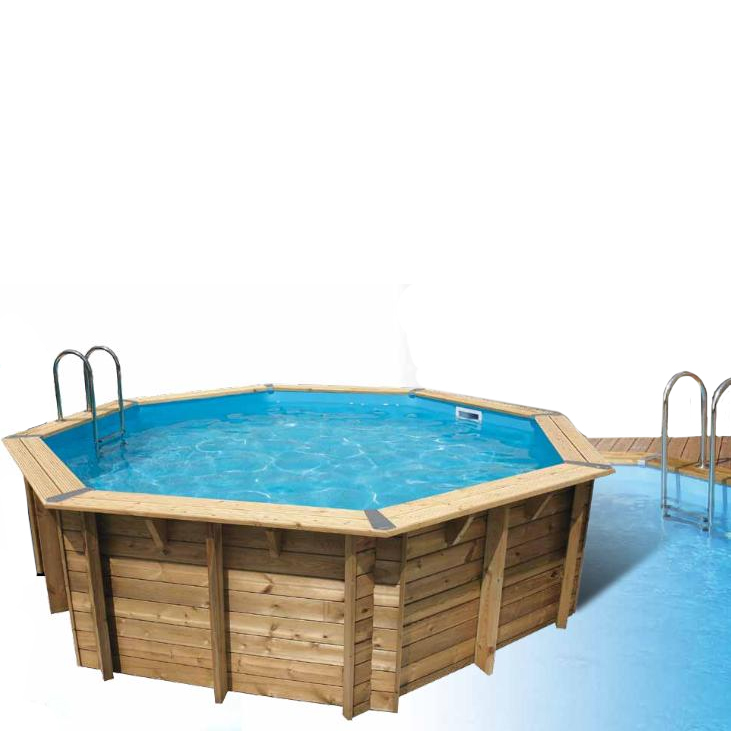 Piscine bois oc a d430 bleu ronde 4 30 x 1 20 m for Boutique de la piscine